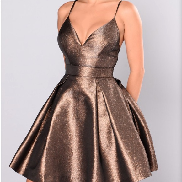 "75337bc2c9b Fashion Nova - ""Steal the Show Metallic Dress"""